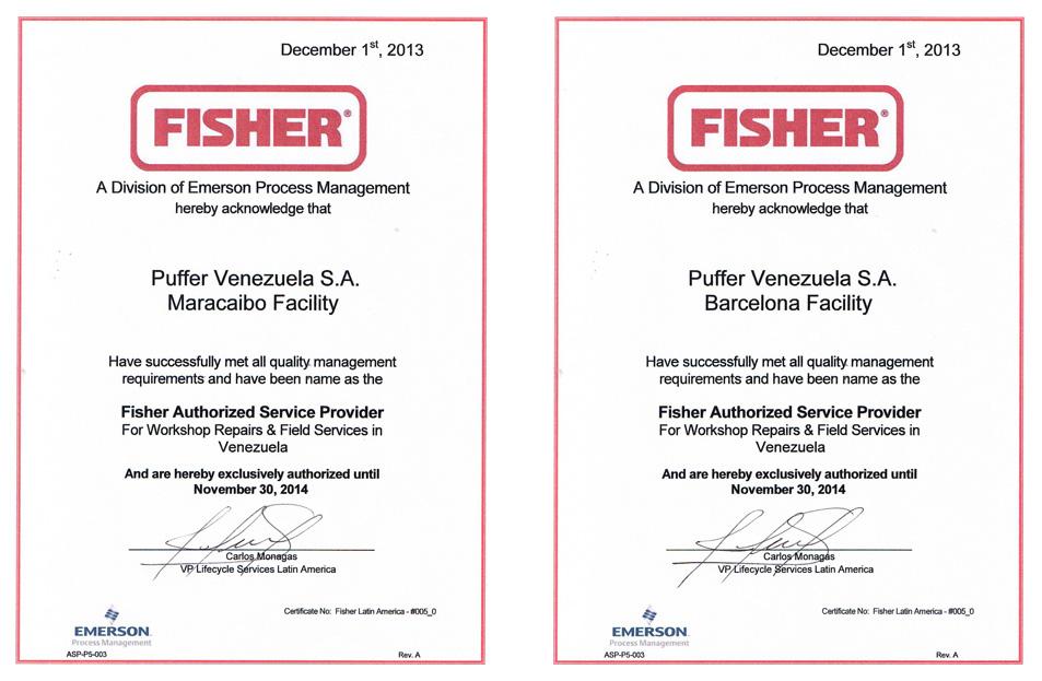 Certificación PUFFER